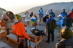 6. The guide giving the gear for the climb to the summit._resize