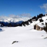 Refugi d'Ensagents visitat en les rutes de raquetes de neu