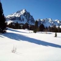 Paissatje amb neu de les excursions amb raquetes de neu